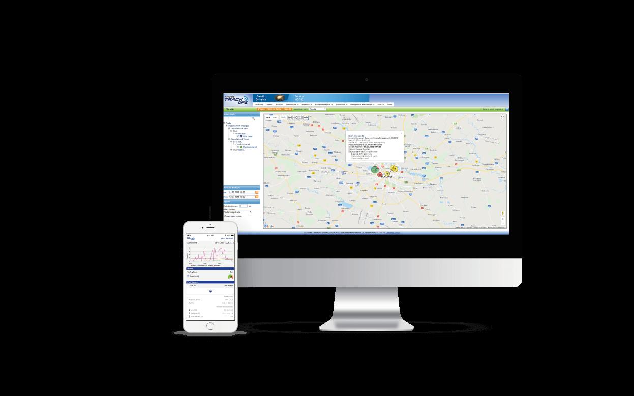 aplicatie monitorizare trackGPS